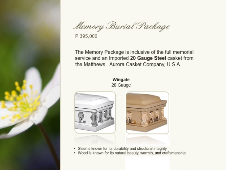 Memory Burial Package