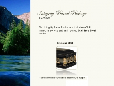 Integrity Burial Package